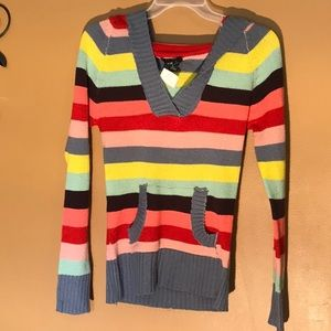 New girls hoodie sweater colorful size medium